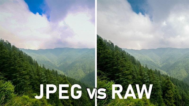 So sánh giữa định dạng JPEG và RAW